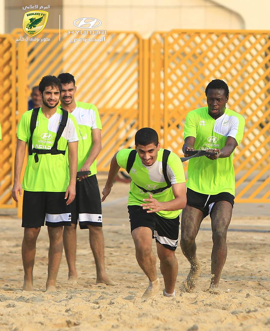 آل فريج يشارك في التدريبات الجماعية .. ولاعبي الدانة يتدربون في الرمال الحرة