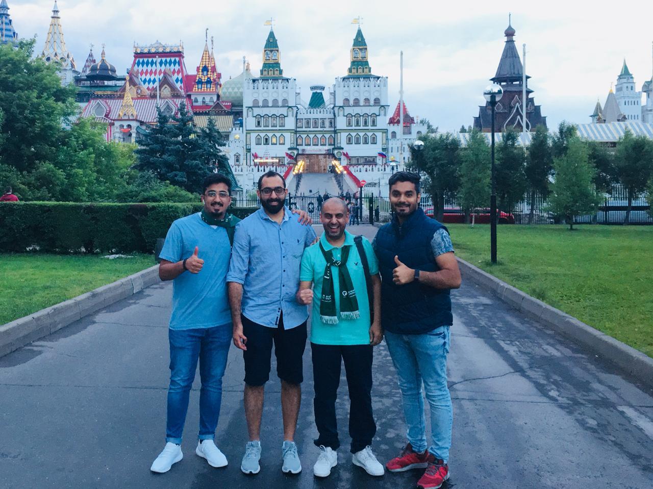 ممثلي نادي الخليج في الملتقى الجماهيري الأول يساندون الأخضر في مونديال روسيا 2018