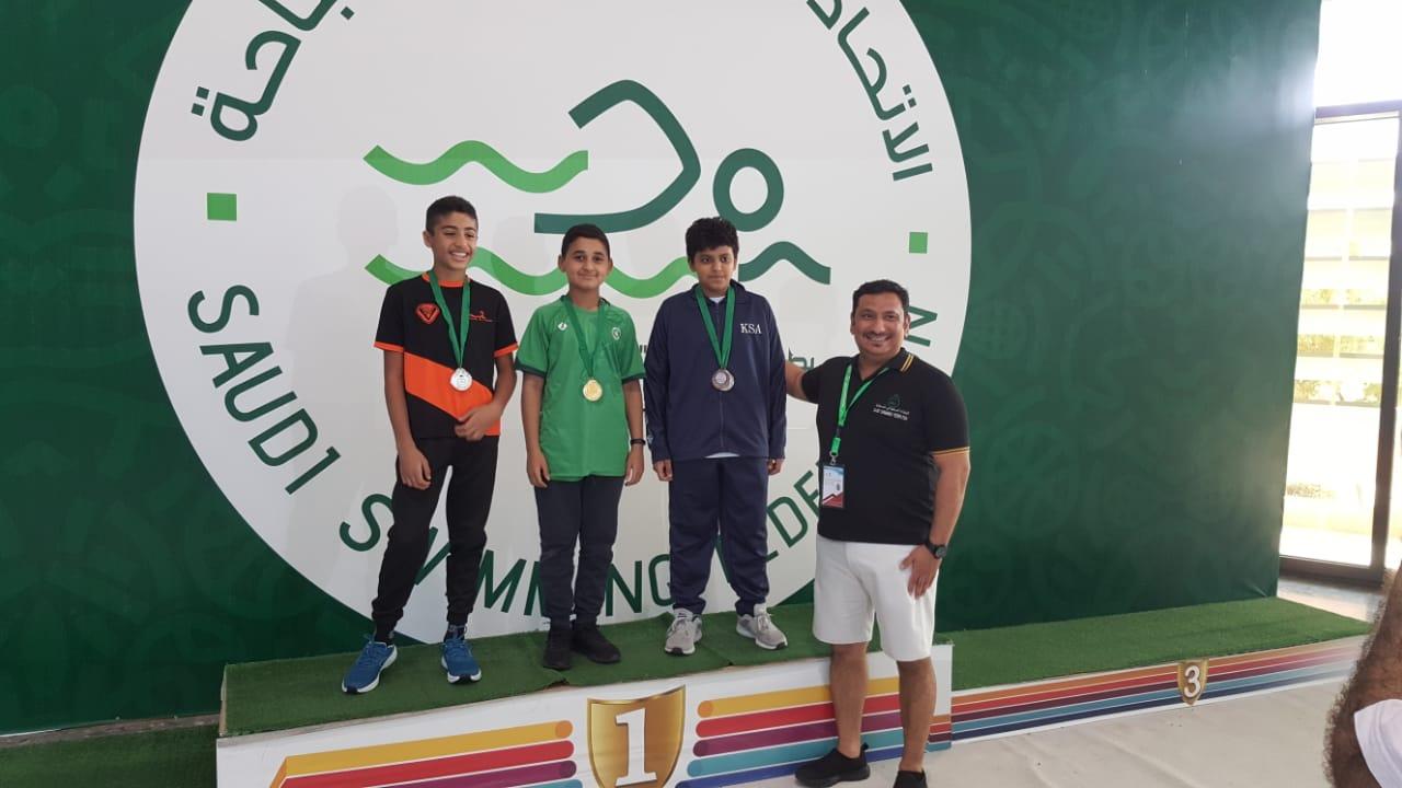 سباحة الخليج تحقق المركز الثالث في بطولة الموهبة للسباحة