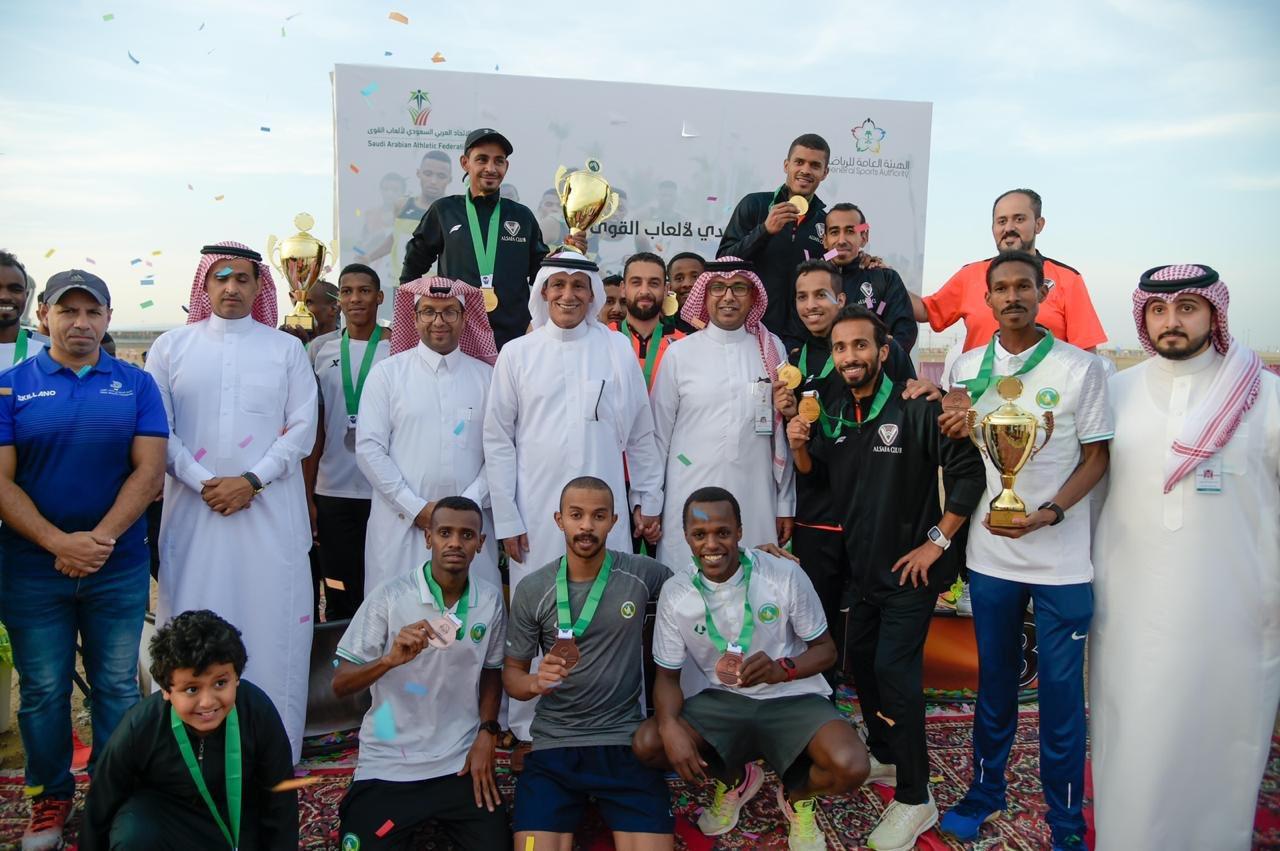 ألعاب قوى الخليج تحقق المركز الثالث في بطولة المملكة لكأس الاتحاد
