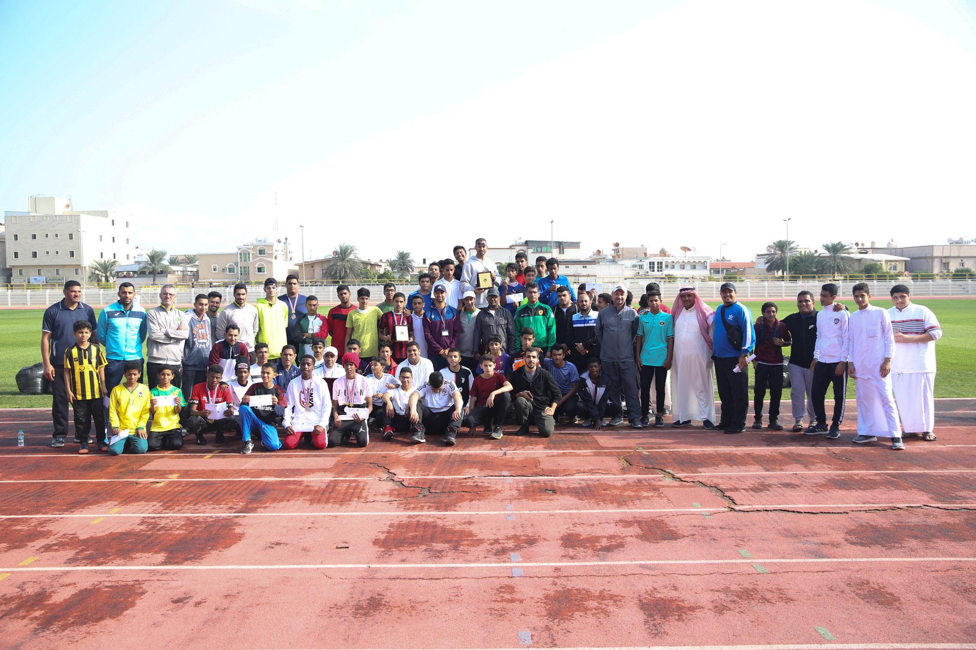 نادي الخليج يقيم لقاء تجمعي لألعاب القوى بالتعاون مع نشاط الطلاب بتعليم الشرقية