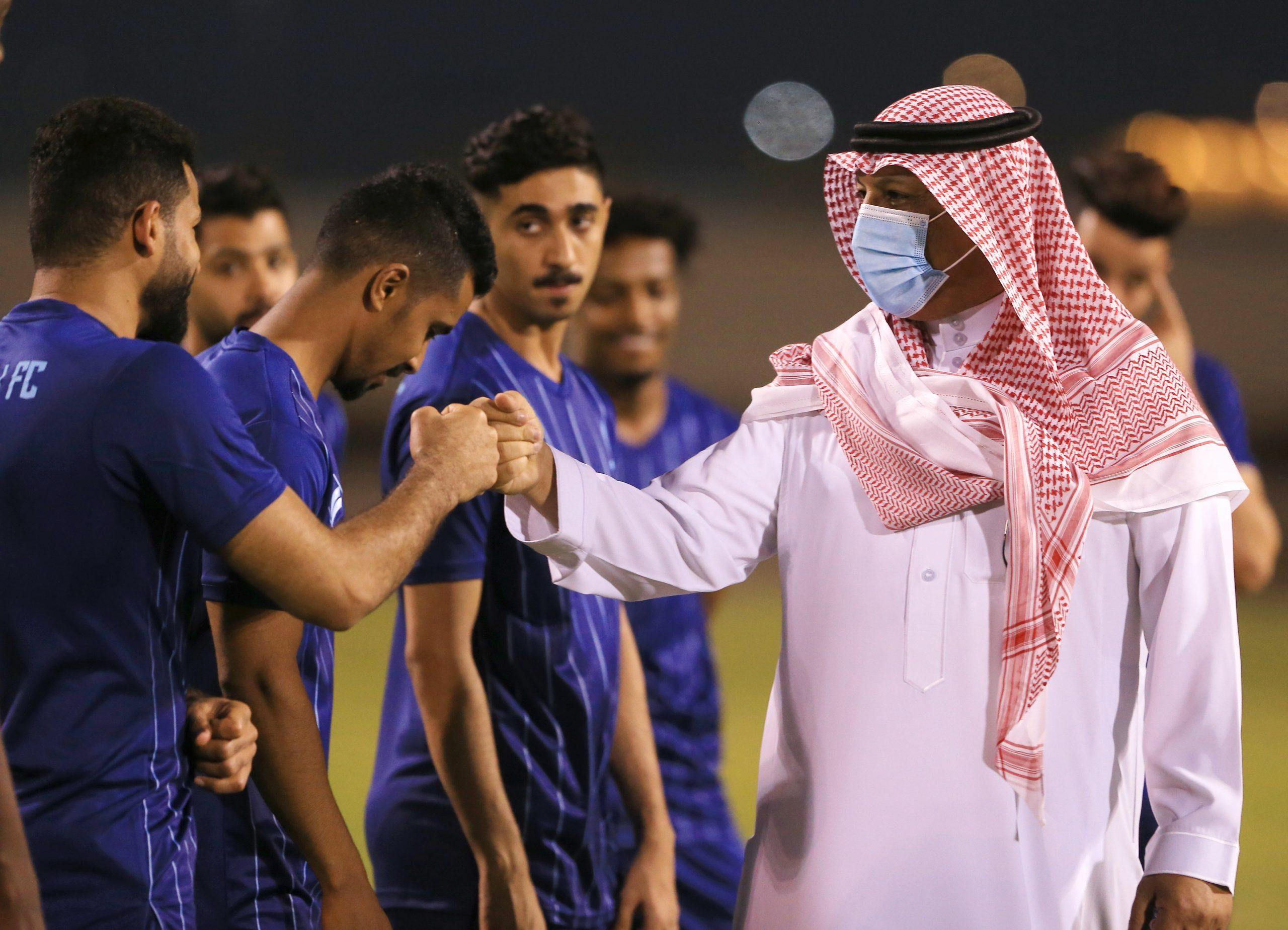 استمرار تدريبات الخليج وسط حضور الباشا رئيس النادي