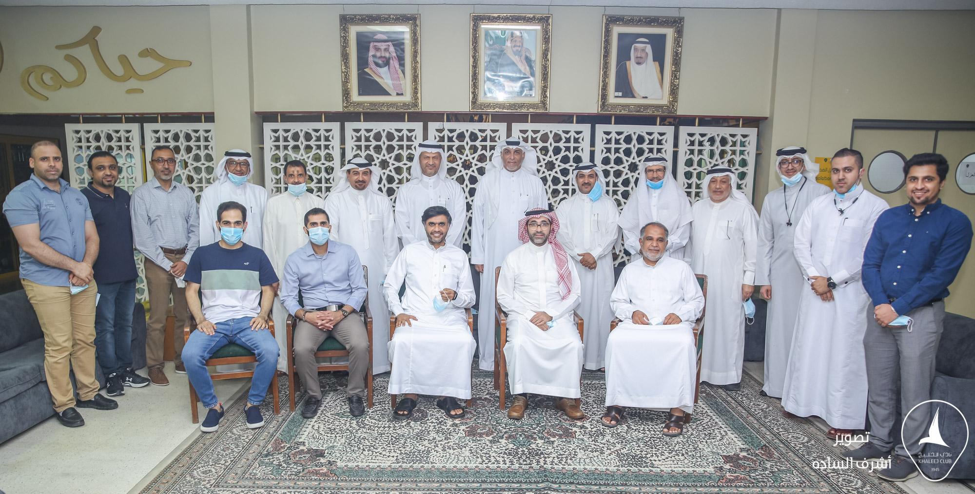 مجلس ادارة جمعية سيهات للخدمات الاجتماعية يزور نادي الخليج