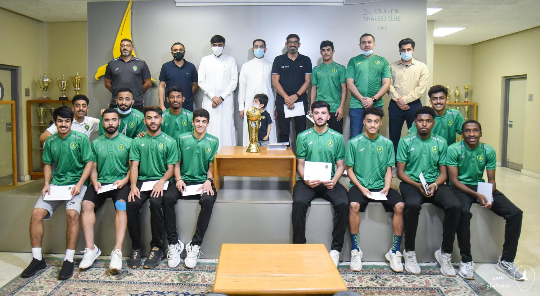 إدارة نادي الخليج تحتفي بشباب القدم